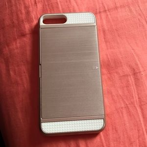 Rose gold and white IPhone 7plus case